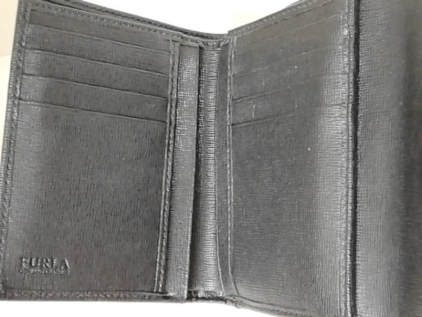 FURLA(フルラ) 3つ折り財布 黒 レザー 3
