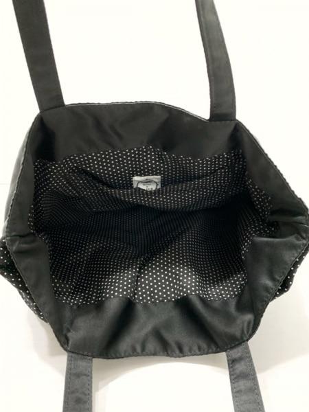 メゾンドフルール トートバッグ 黒×白 リボン/ドット柄 化学繊維 7