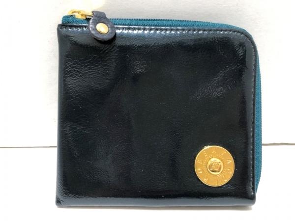 アタオ 財布 ダークグリーン L字ファスナー エナメル(レザー) 1