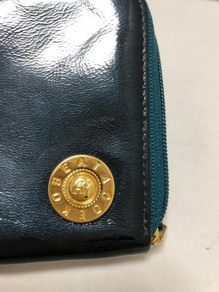 アタオ 財布 ダークグリーン L字ファスナー エナメル(レザー) 4