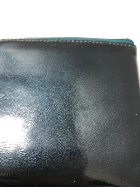 アタオ 財布 ダークグリーン L字ファスナー エナメル(レザー) 8