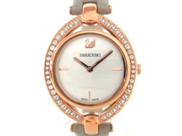 SWAROVSKI(スワロフスキー) 腕時計美品  レディース シルバー 1