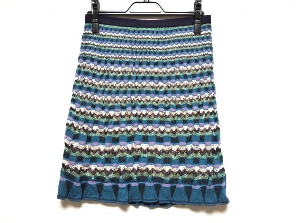 ミッソーニ スカート サイズ40 M レディース美品  - ひざ丈/ニット 1