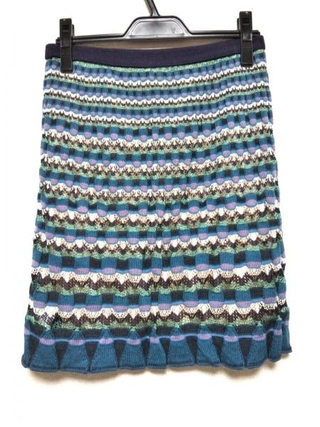 ミッソーニ スカート サイズ40 M レディース美品  - ひざ丈/ニット 2