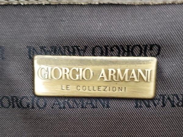 ジョルジオアルマーニ トートバッグ ダークグリーン スエード 8