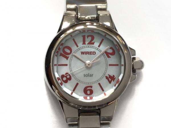 ワイアード 腕時計 V111-0AH0 レディース シェル文字盤 グレーシェル 1