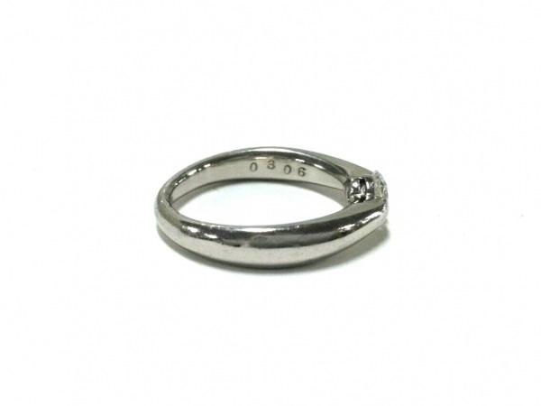 ノーブランド リング Pt900×ダイヤモンド 総重量:5.1g/0306刻印 2