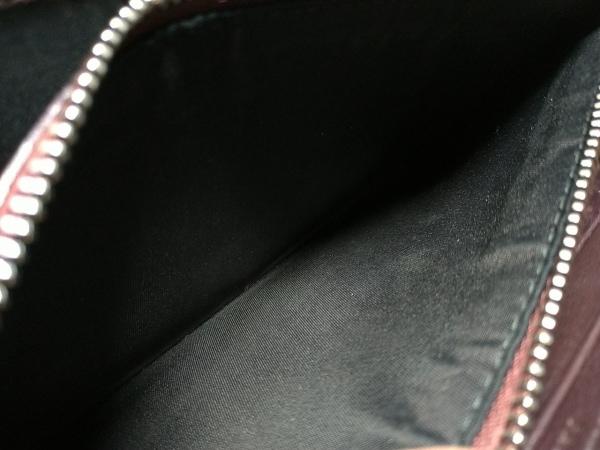 クリスチャンディオール 長財布 ロゴグラム ボルドー 型押し加工 4