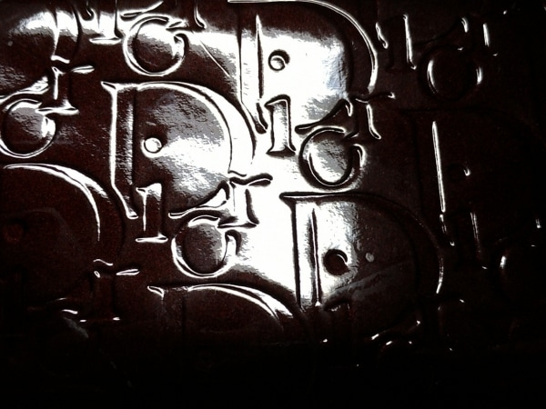 クリスチャンディオール 長財布 ロゴグラム ボルドー 型押し加工 6