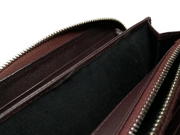 クリスチャンディオール 長財布 ロゴグラム ボルドー 型押し加工 7
