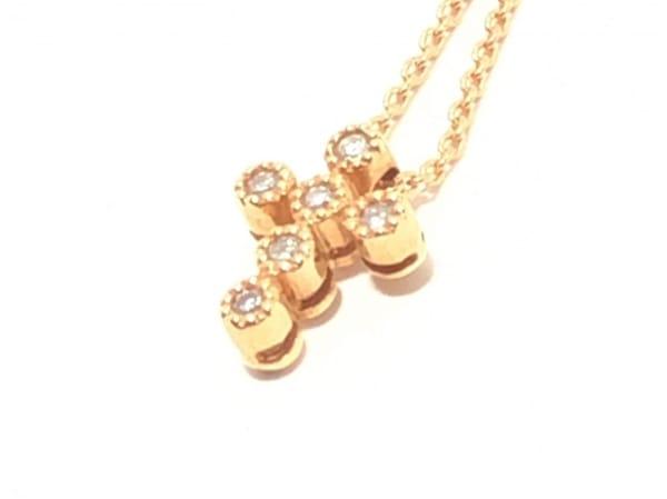 スタージュエリー ネックレス美品  K18PG×ダイヤモンド 1