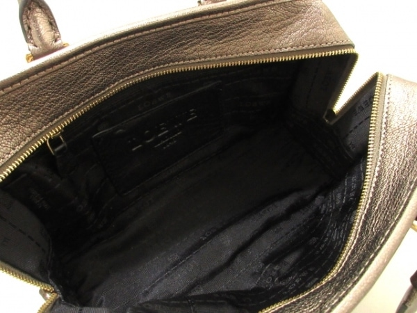 LOEWE(ロエベ) ハンドバッグ美品  アマソナ シルバー レザー 6