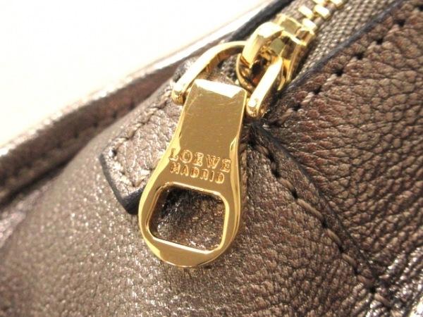 LOEWE(ロエベ) ハンドバッグ美品  アマソナ シルバー レザー 8