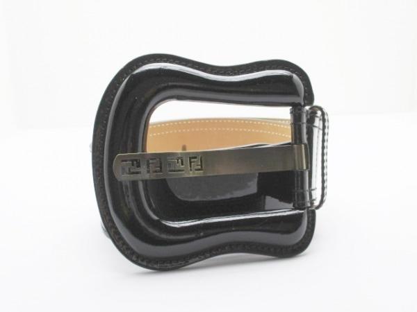 FENDI(フェンディ) ベルト 80/32 8C0306 黒 ジャンボバックル 1