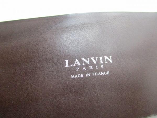 LANVIN(ランバン) ベルト M シルバー×黒×グレー 4