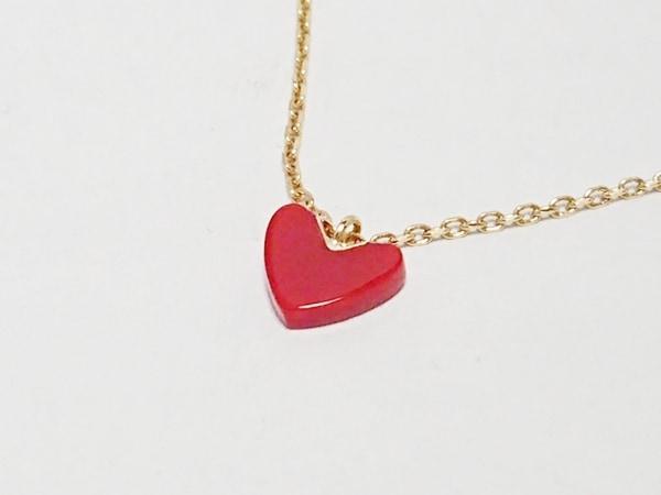 アーカー ネックレス美品  - K18YG×プラスチック レッド ハート 1