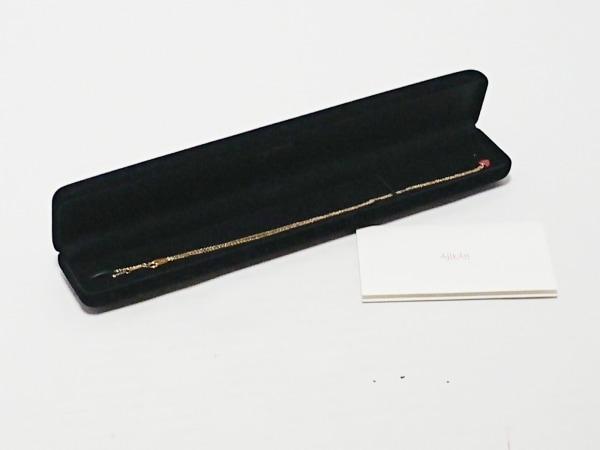 アーカー ネックレス美品  - K18YG×プラスチック レッド ハート 6