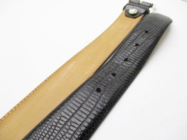 CORNELIANI(コルネリアーニ) ベルト 105/54 黒×シルバー 型押し加工 5