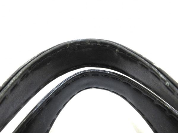 シャネル ハンドバッグ ワイルドステッチ 黒×ベージュ レザー 5