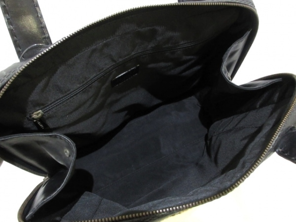 シャネル ハンドバッグ ワイルドステッチ 黒×ベージュ レザー 6