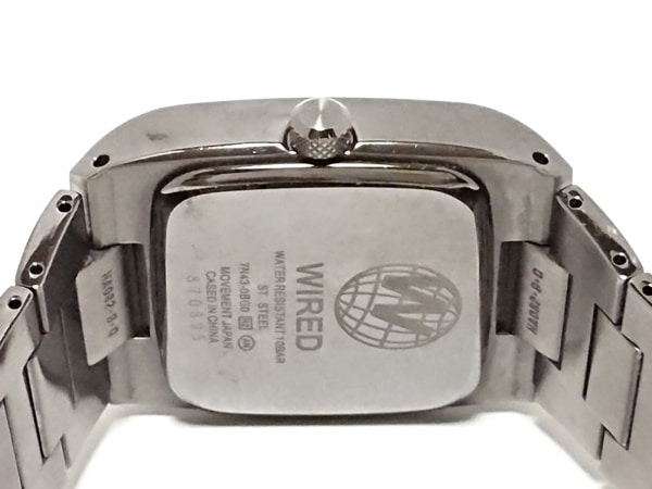 WIRED(ワイアード) 腕時計 - 7N43-0BG0 メンズ シルバー 4