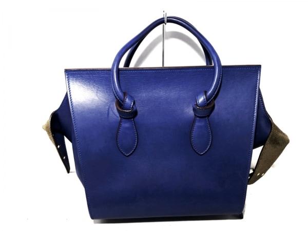 CELINE(セリーヌ) ハンドバッグ - ブルー レザー 3