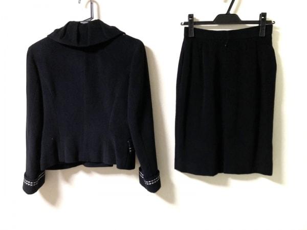 クレージュ スカートスーツ サイズ9 M レディース 黒×アイボリー 2