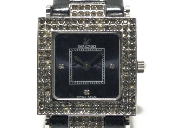 SWAROVSKI(スワロフスキー) 腕時計 - レディース 黒×クリア 1