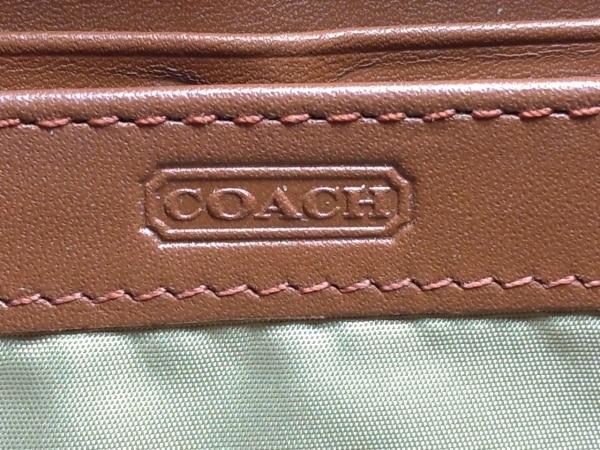 COACH(コーチ) 長財布 - ブラウン ラウンドファスナー レザー 5