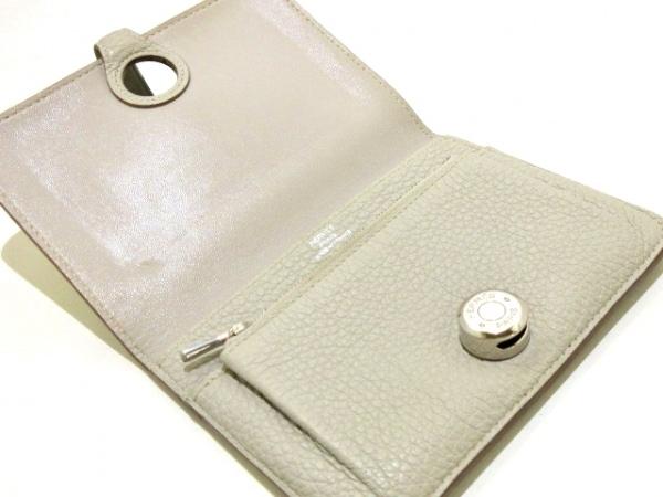 エルメス 2つ折り財布 ドゴンコンパクト ライトグレー シルバー金具 3