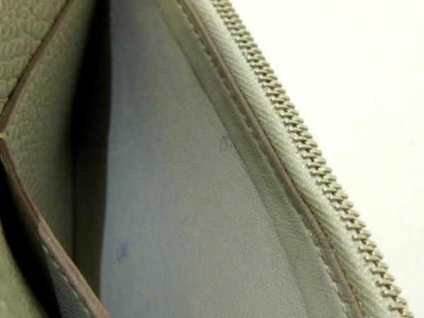 エルメス 2つ折り財布 ドゴンコンパクト ライトグレー シルバー金具 6