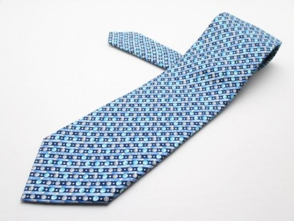 BVLGARI(ブルガリ) ネクタイ メンズ新品同様  ブルー×黒×マルチ 1