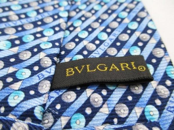 BVLGARI(ブルガリ) ネクタイ メンズ新品同様  ブルー×黒×マルチ 3