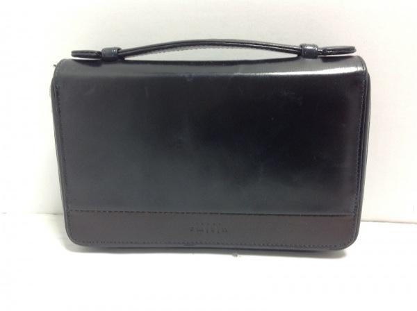 ウルティマトーキョー 財布 黒 ラウンドファスナー レザー 1