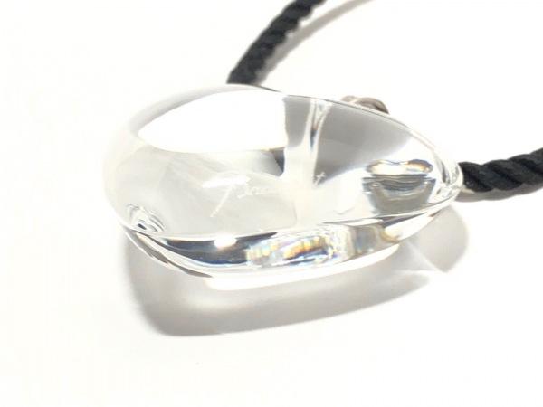 バカラ チョーカー - クリスタルガラス×化学繊維×シルバー ハート 3