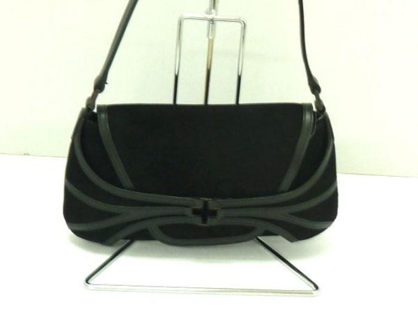 BALLY(バリー) ハンドバッグ美品  - 黒 スエード×レザー 1