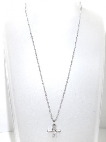 ブルガリ ネックレス美品  グリーククロス K18WG×ダイヤモンド 2