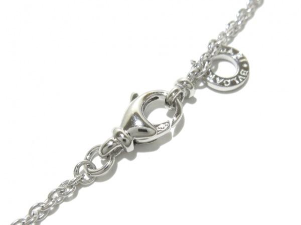 ブルガリ ネックレス美品  グリーククロス K18WG×ダイヤモンド 4