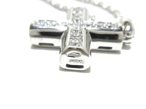 ブルガリ ネックレス美品  グリーククロス K18WG×ダイヤモンド 6