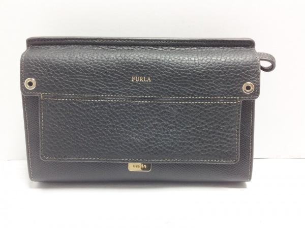 FURLA(フルラ) 財布 黒 ショルダーウォレット レザー 1