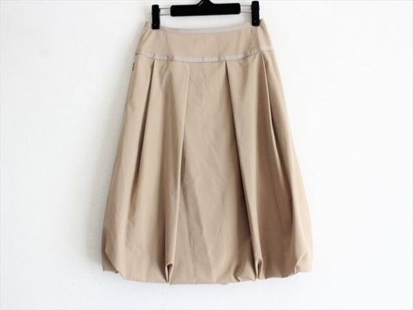 フォクシーニューヨーク スカート サイズ40 M レディース ベージュ 1