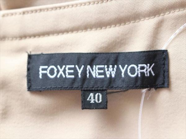 フォクシーニューヨーク スカート サイズ40 M レディース ベージュ 3