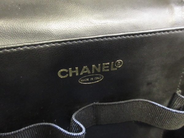 シャネル バニティバッグ - 黒 ゴールド金具 エナメル(レザー) 7