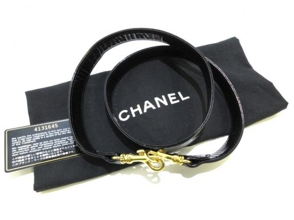 シャネル バニティバッグ - 黒 ゴールド金具 エナメル(レザー) 9