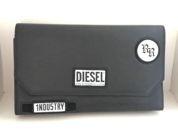 DIESEL(ディーゼル) 財布 - 黒×白 ショルダーウォレット レザー 1