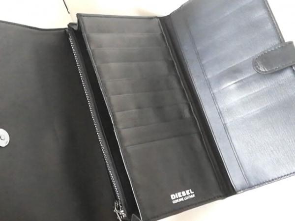 DIESEL(ディーゼル) 財布 - 黒×白 ショルダーウォレット レザー 3