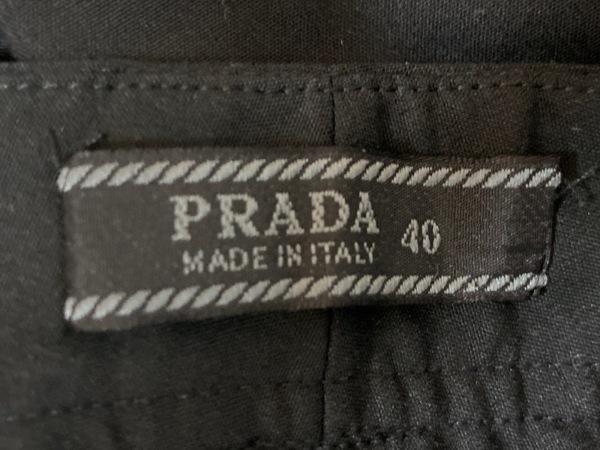 PRADA(プラダ) パンツ サイズ40 M レディース - 黒 フルレングス 3