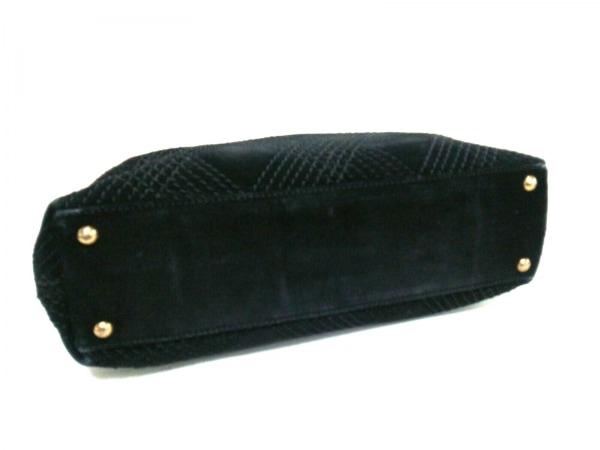 シャネル トートバッグ ワイルドステッチ A19351 黒 スエード 8