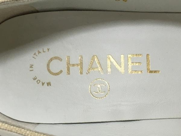 CHANEL(シャネル) パンプス 36 2/1 レディース G28504 白 5