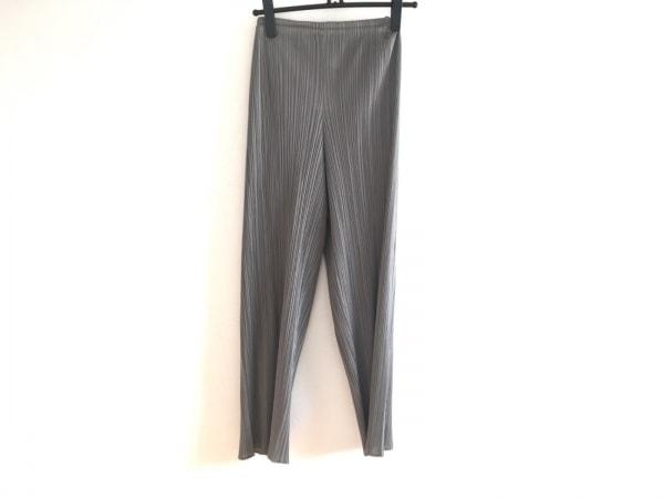 プリーツプリーズ パンツ サイズ3 L レディース グレー プリーツ 1